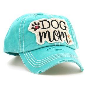 Dog Mom Vintage Distressed Woman Cap